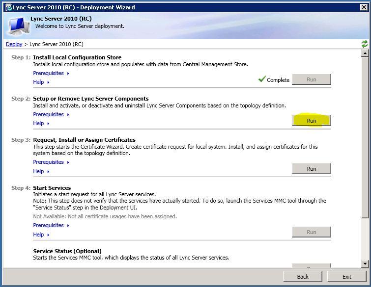 lync update center